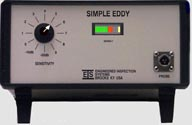 Simple Eddy, For the detection  of neck cracks in SCUBA and SCBA cylinders.